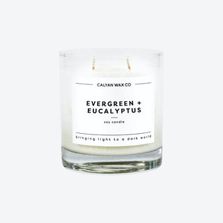 Glass Tumbler Soy Candle - Evergreen and Eucalyptus