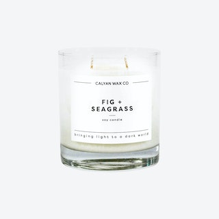 Glass Tumbler Soy Candle - Fig and Seagrass