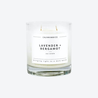 Glass Tumbler Soy Candle - Lavender and Bergamot