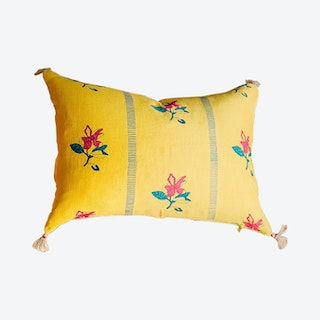 Ira Handwoven Pillowcase - Linen - Dandelion