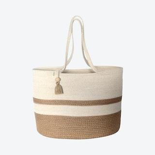 Shopper Bag with Tassel - Jute Block