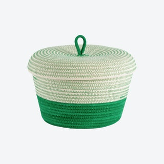 Lidded Bowl Basket - Greenery