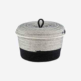 Lidded Bowl Basket - Liquorice