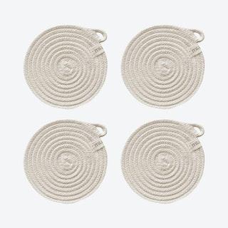 Coasters - Ivory - Set of 4