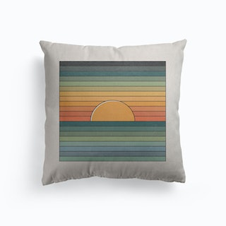 Sinking Sun Canvas Cushion