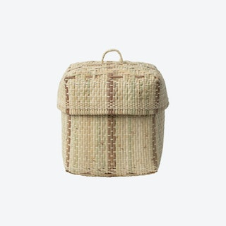 Bidayuh Lidded Storage Basket - Natural