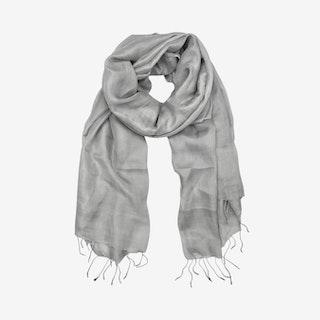 Khmer Scarf - Silver - Silk
