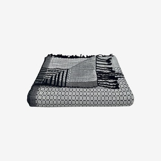 Cambodia Tapestry Throw - Silver