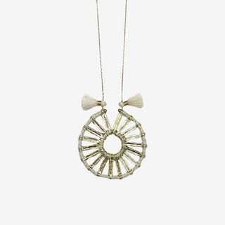 Indu Pendant Necklace - White