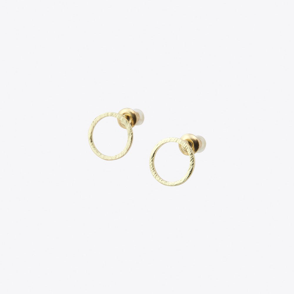 Geometric Circle Earrings in Gold