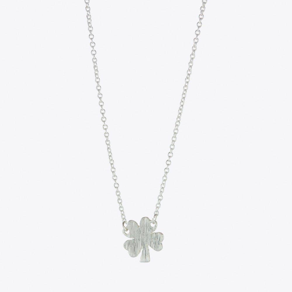 Lucky Clover Necklace Silver