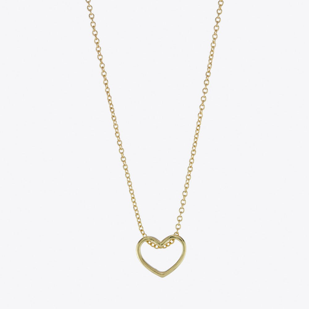 Heart Loop Necklace in Gold