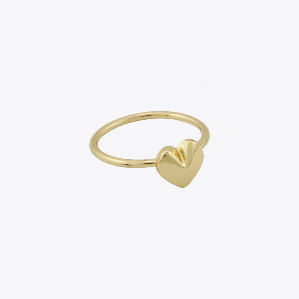 Heart Ring in Gold Fill