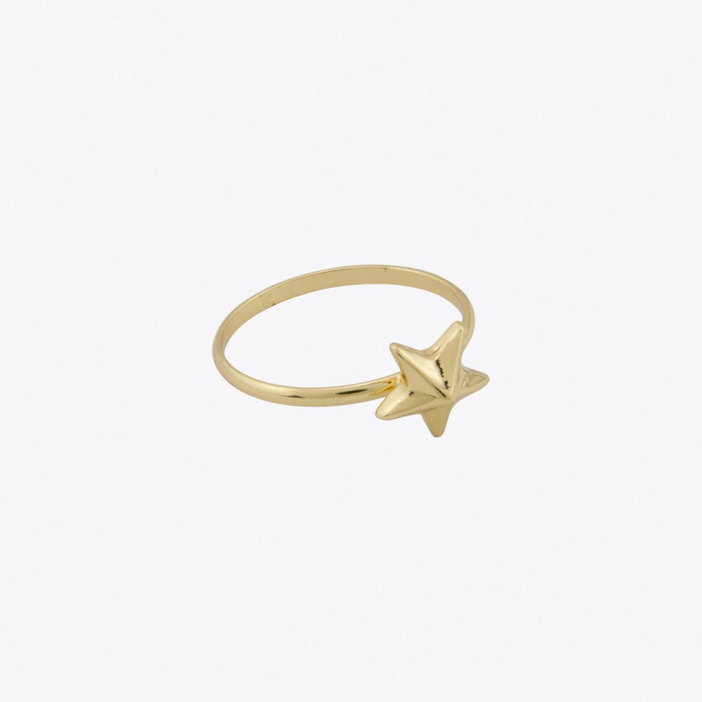 Star Ring in Gold Fill