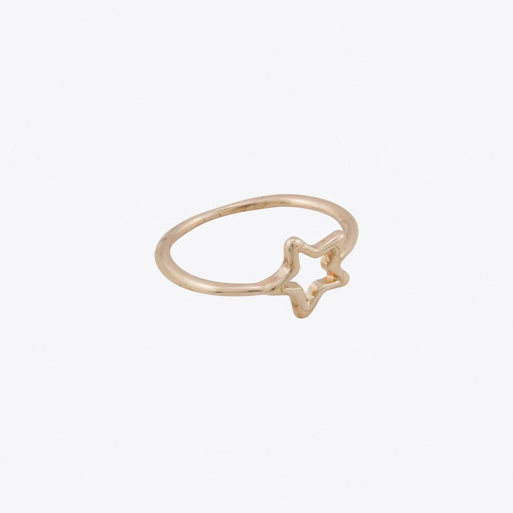 Geometric Star Ring in Rose Gold