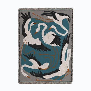 Lovely Birds Woven Throw