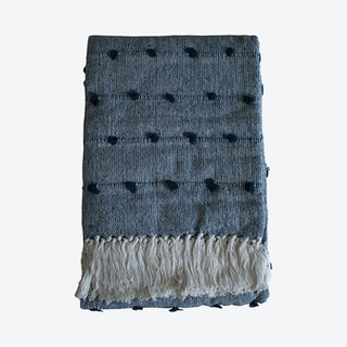 Nudos Handwoven Throw - Navy Blue