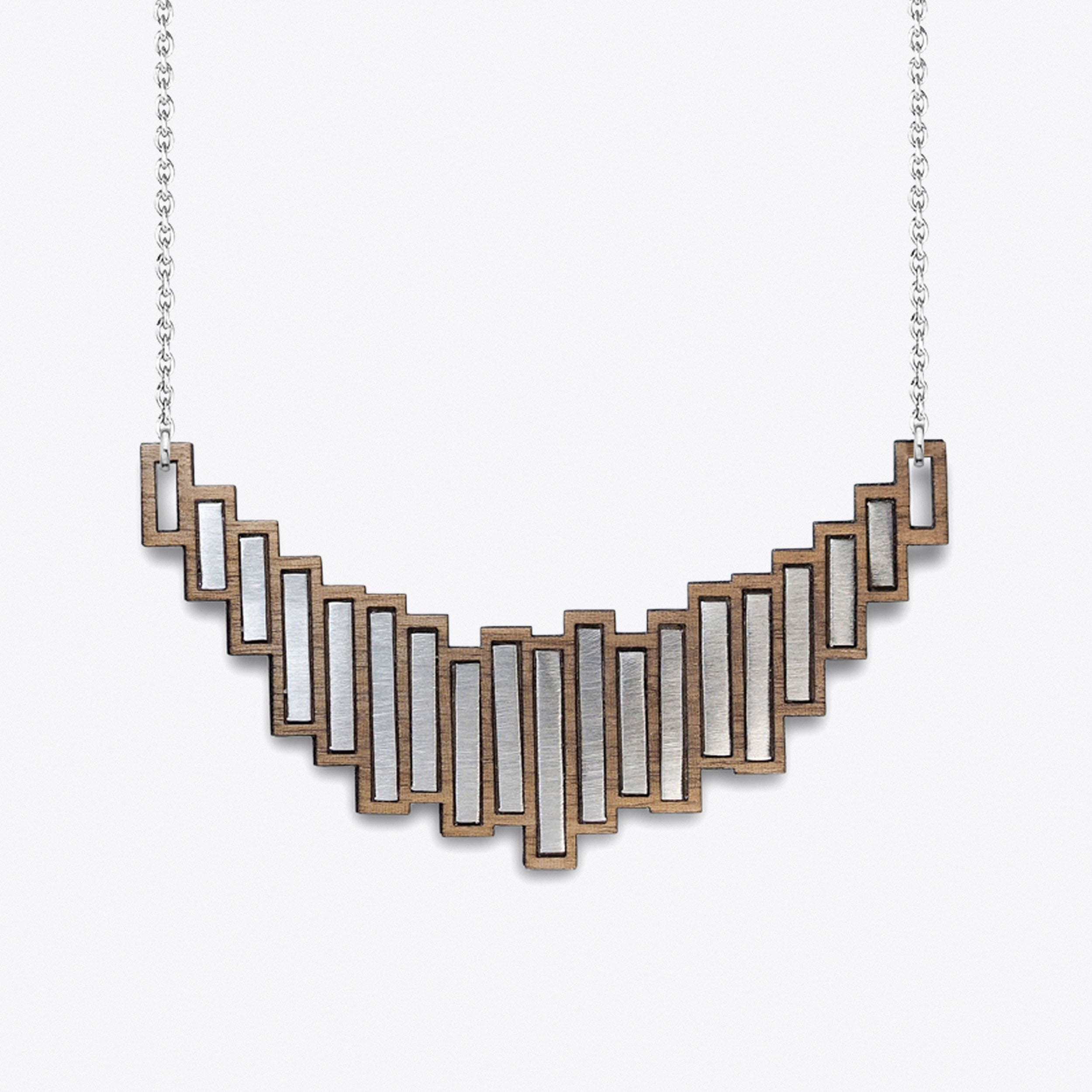 """The Stella"" Necklace In Steel"