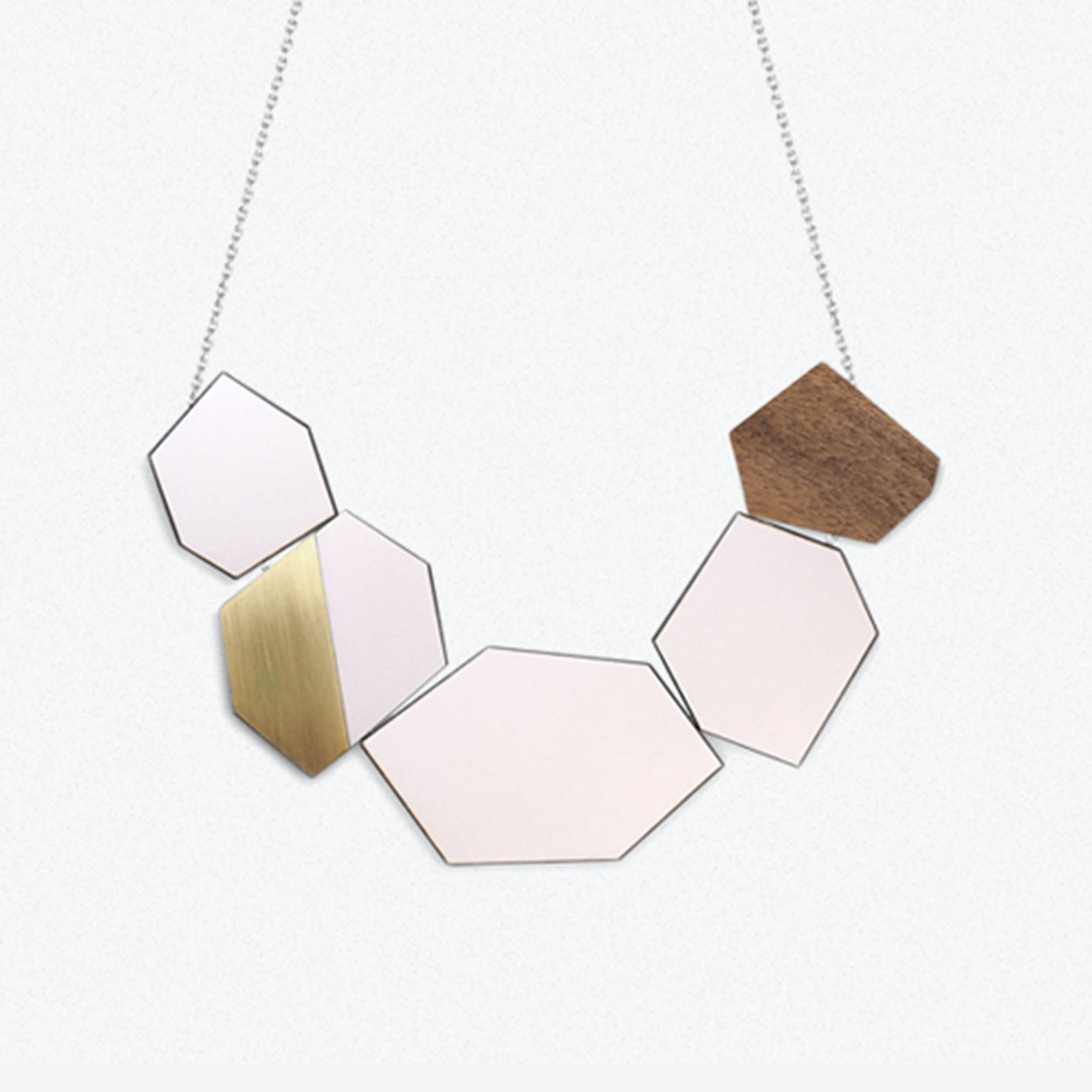 """""""The Ella"""" Reversable Necklace In Just Rose"""