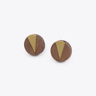 Cate Earrings in Brass