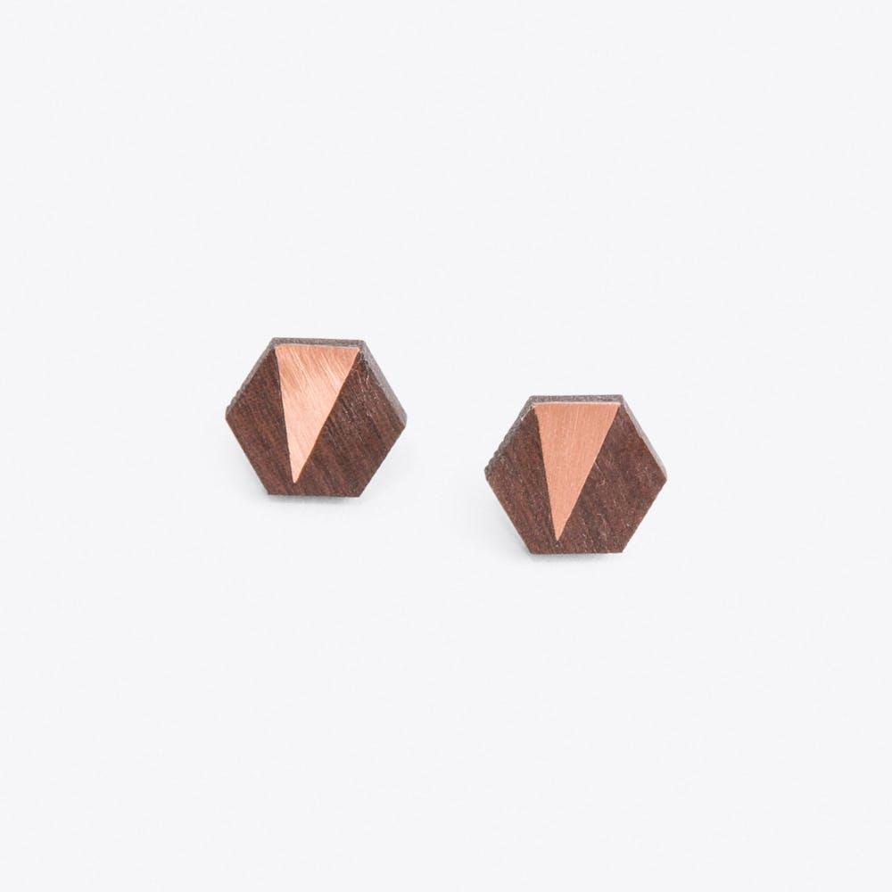 Jennifer Earrings in Copper