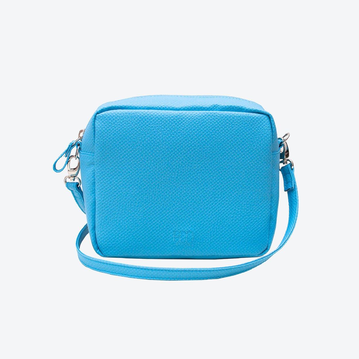 Box Crossbody Bag in Blue