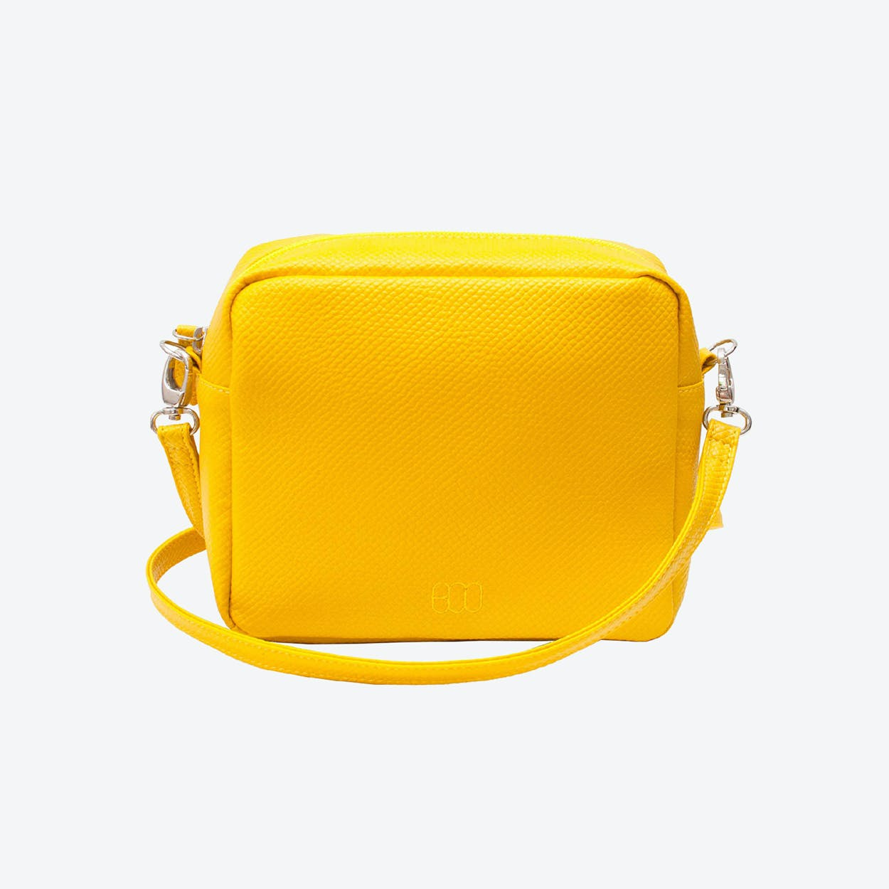 Box Crossbody Bag in Yellow