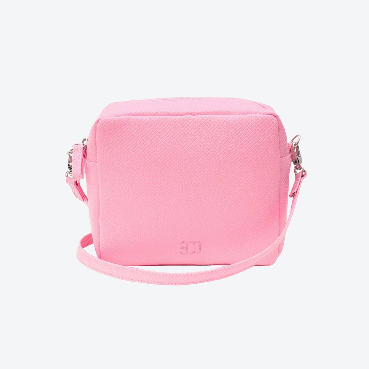 Box Crossbody Bag in Rose