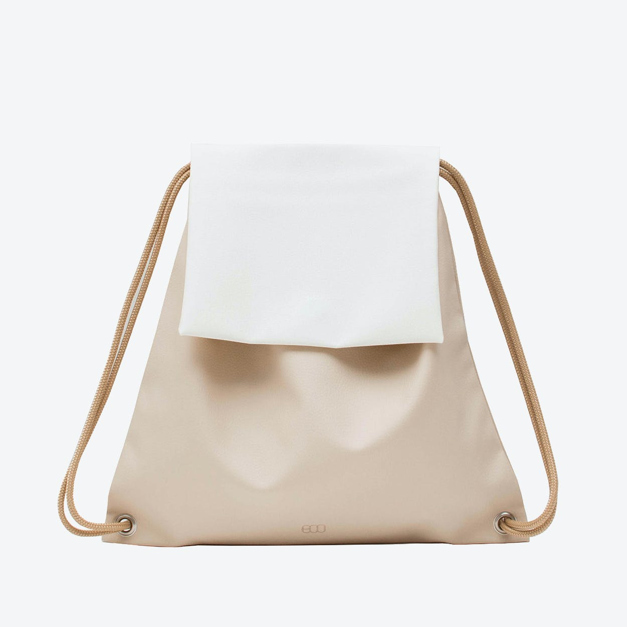Booflap Backpack in Nude White
