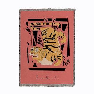 Tiger Tiger Woven Throw