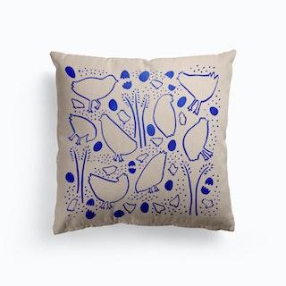 Blue Hens Canvas Cushion