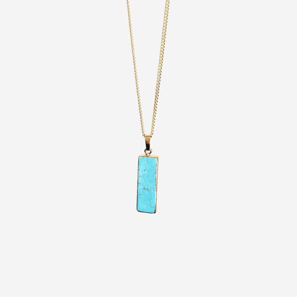 Rectangular Turquoise Necklace