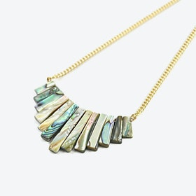 Gold Abalone Collier Necklace
