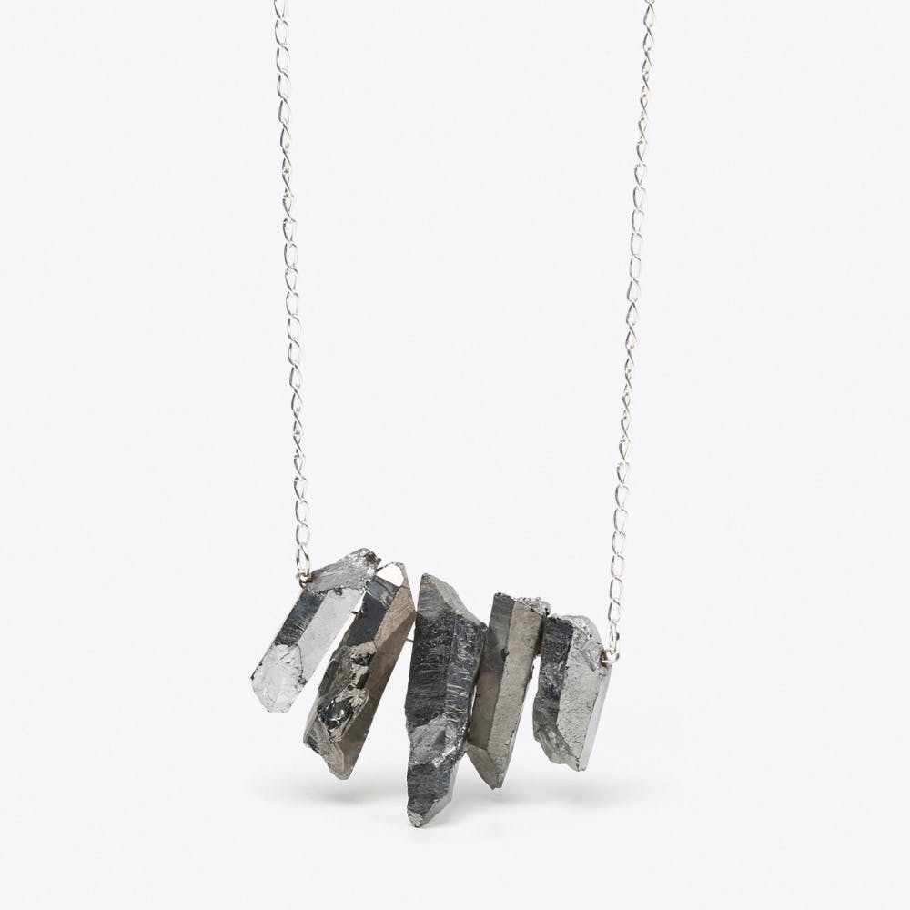 Silver Quartz Necklace