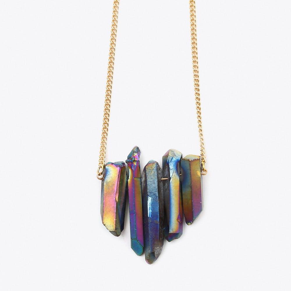 Rainbow Quartz Necklace