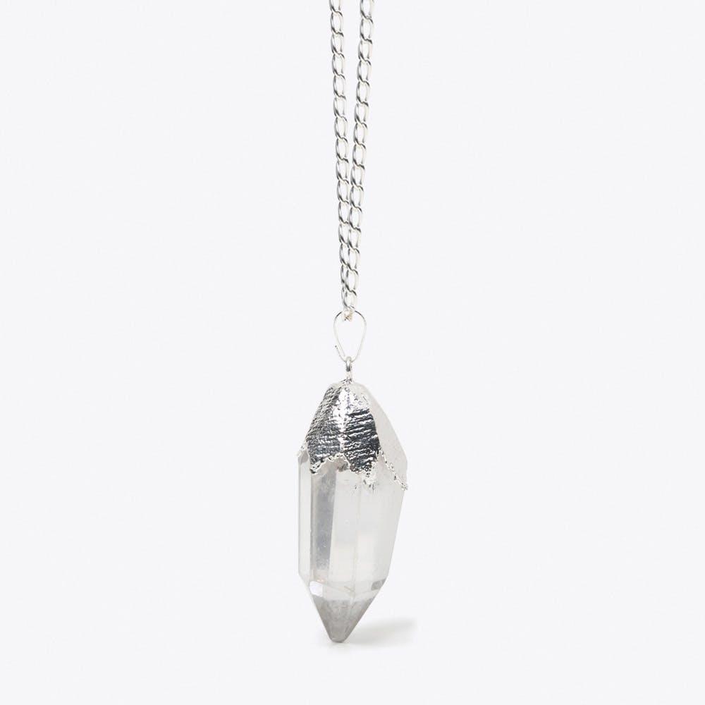 Clear Quartz Crystal in Silver