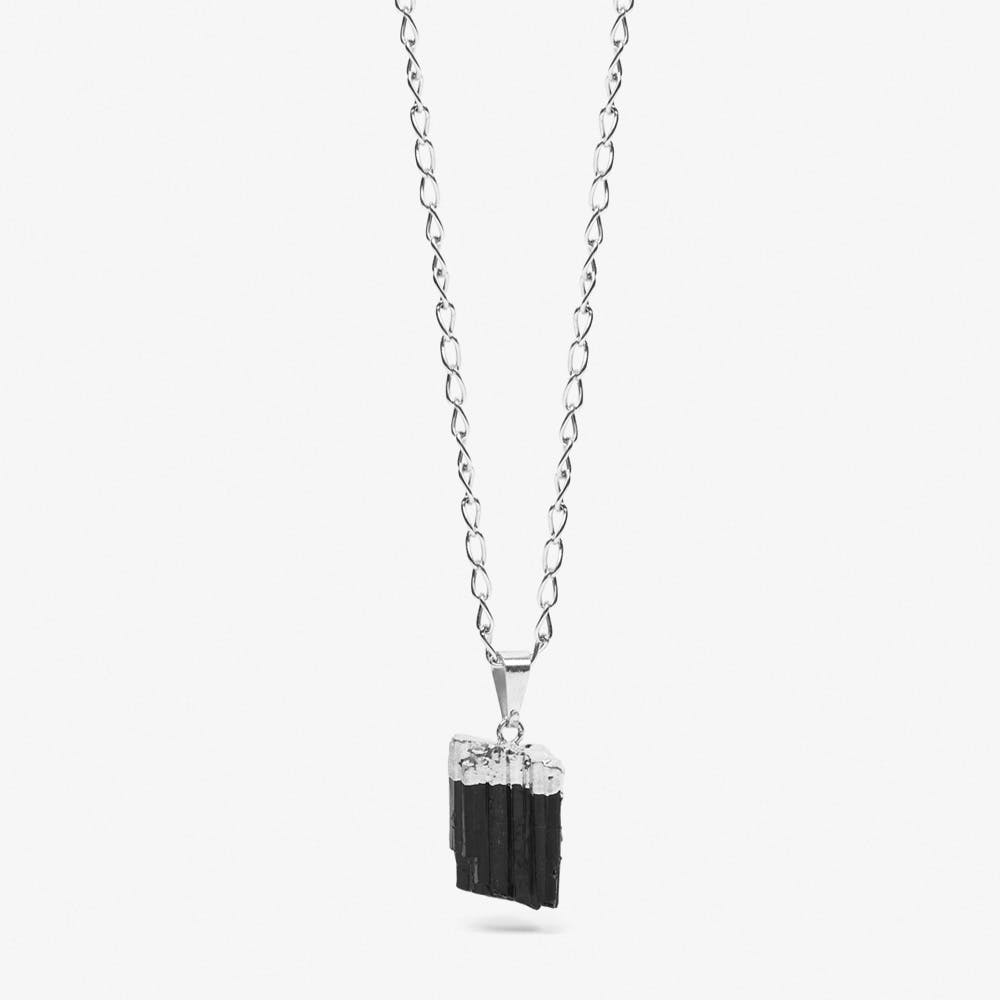Black Tourmaline Necklace in Silver
