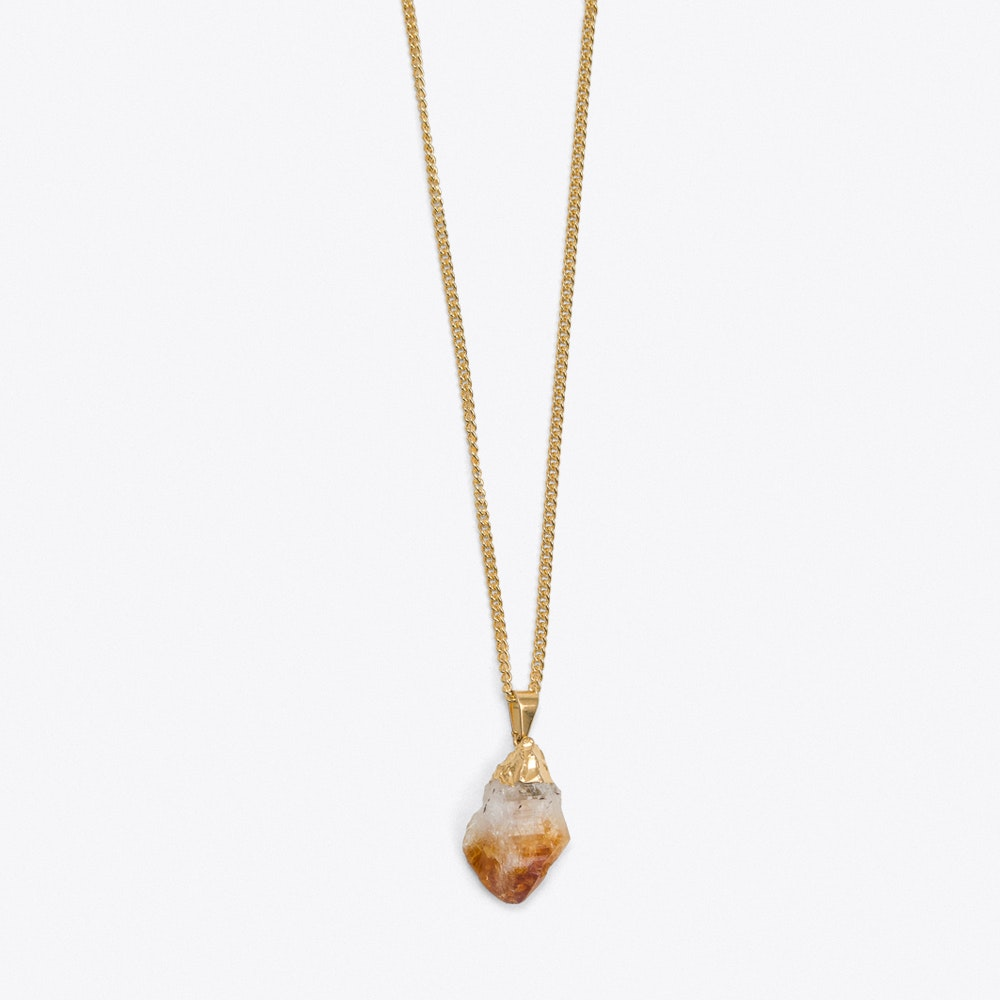 pendant stone white cut quartz on hugerect luulla product raw druzy necklace