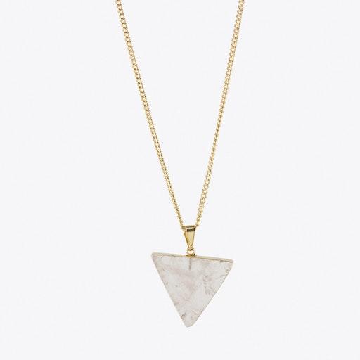 Rose Quartz Triangle Necklace