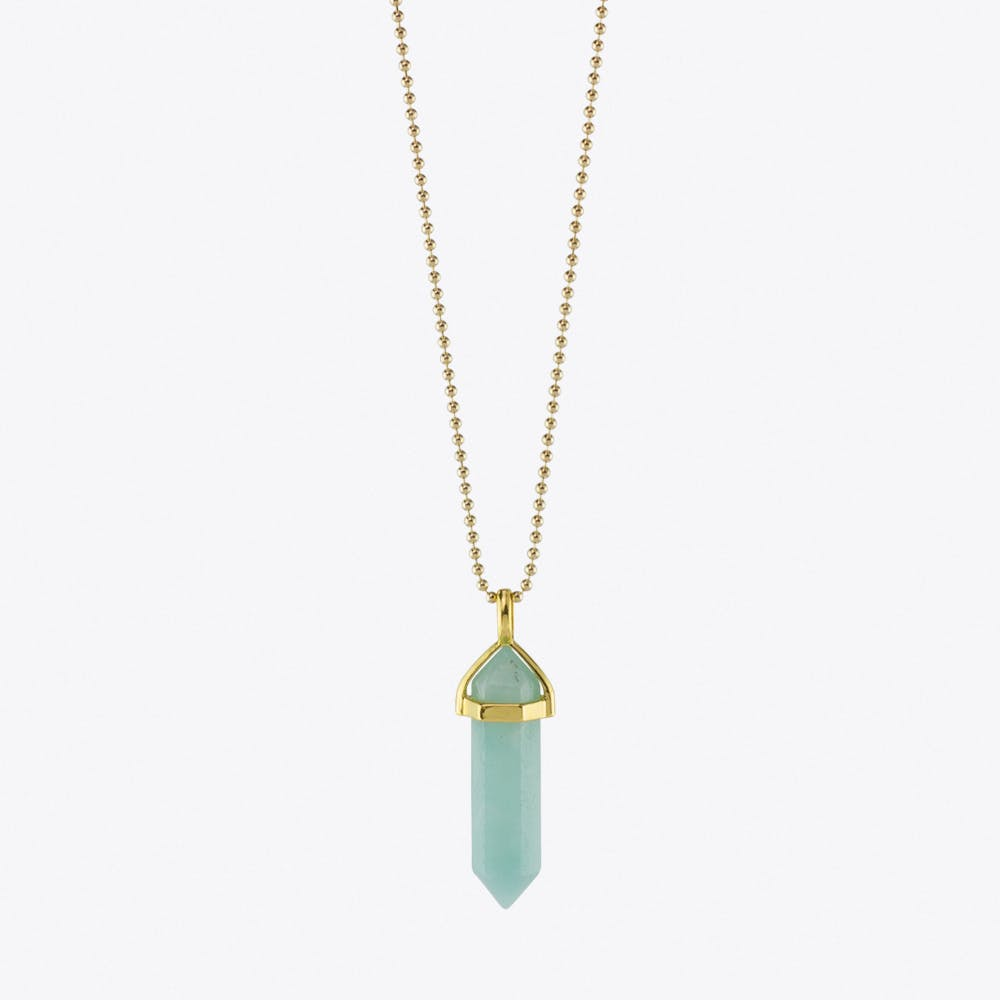 Blue Amazonite Pendulum Necklace