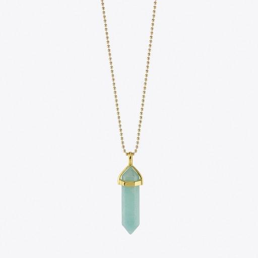 Blue Amazonite Pendulum Necklace