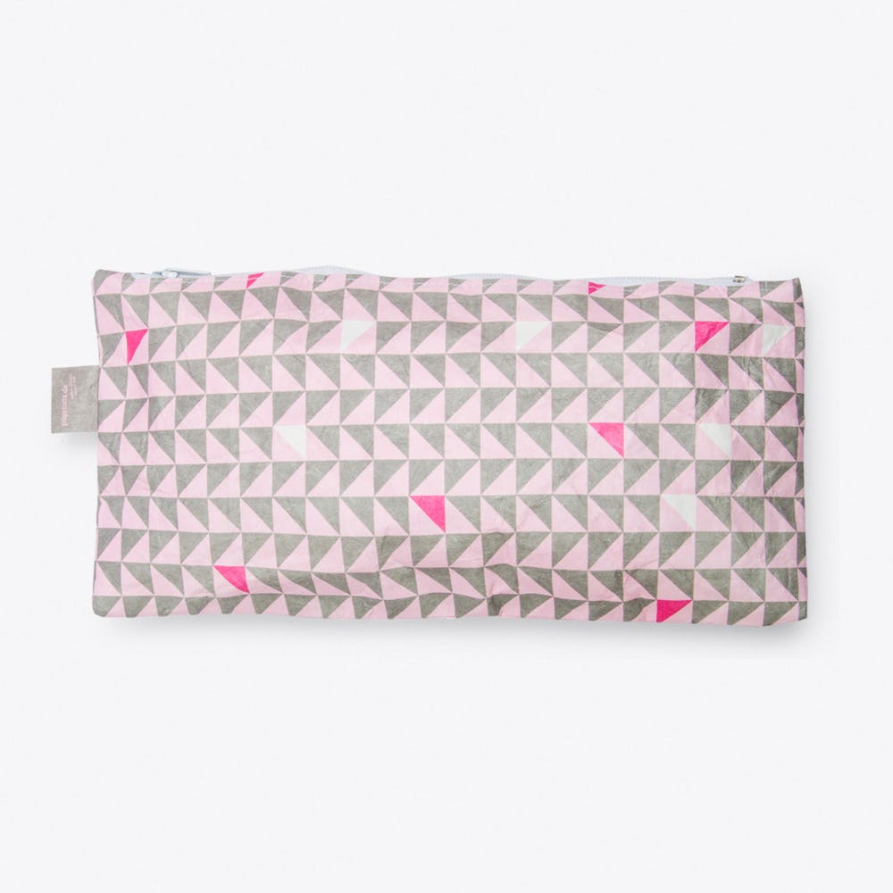 Triangle Pencil Case in Rose