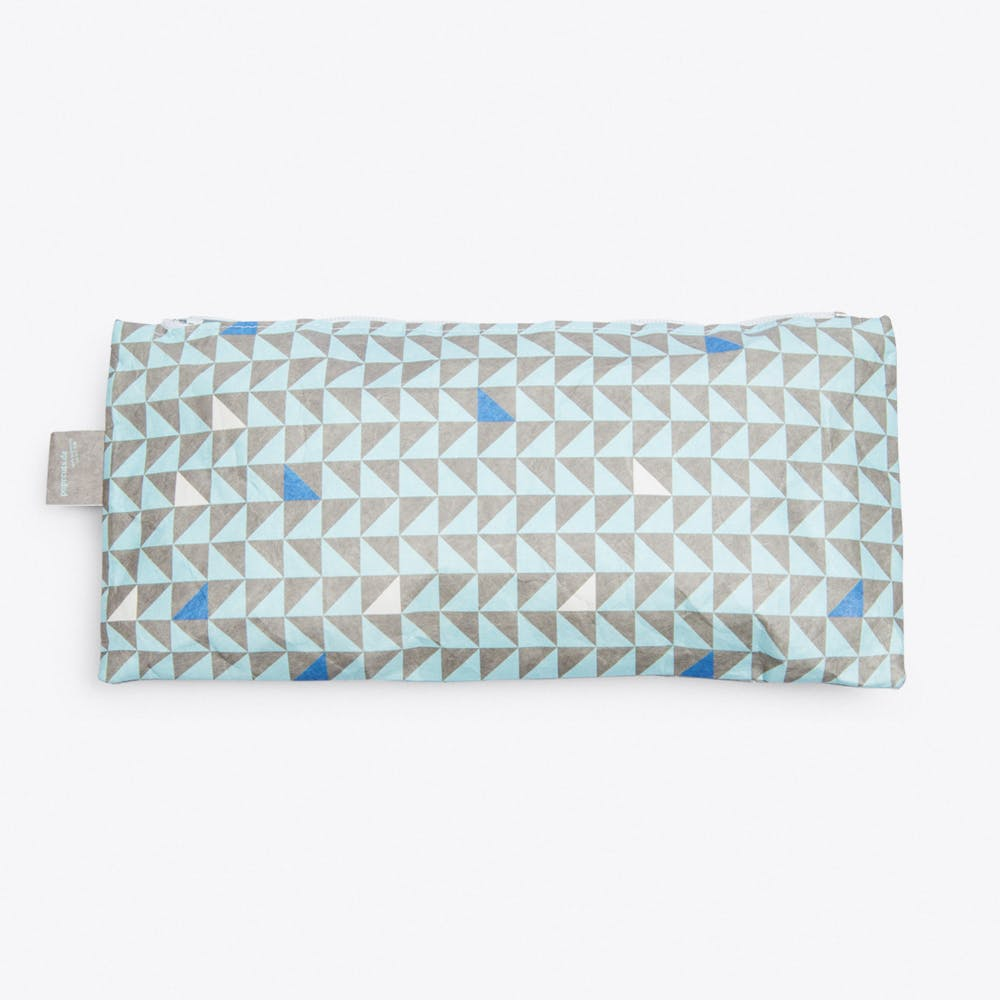 Triangle Pencil Case in Blue