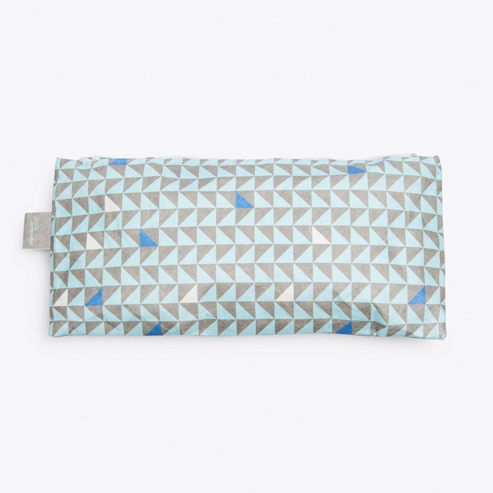 Triangle Pencil Case in Blue
