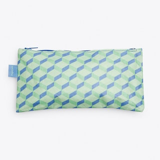 3D Cube Pencil Case in Green