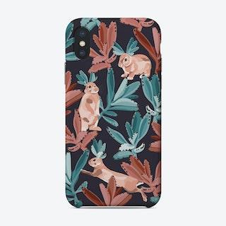 Rabbits In The Succulent Jungle Phone Case