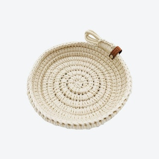 Rope Knitted Bowl - Ivory
