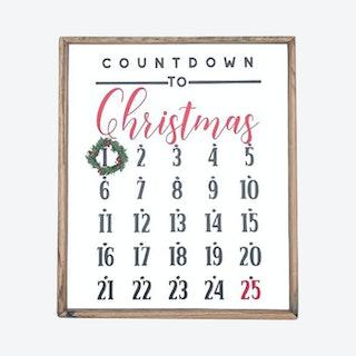 Christmas Advent Framed Calendar