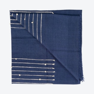 Rosewood Throw - Indigo - Merino Wool
