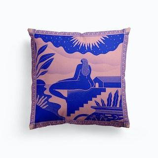 She Had The Sun Moon And Stars Canvas Cushion
